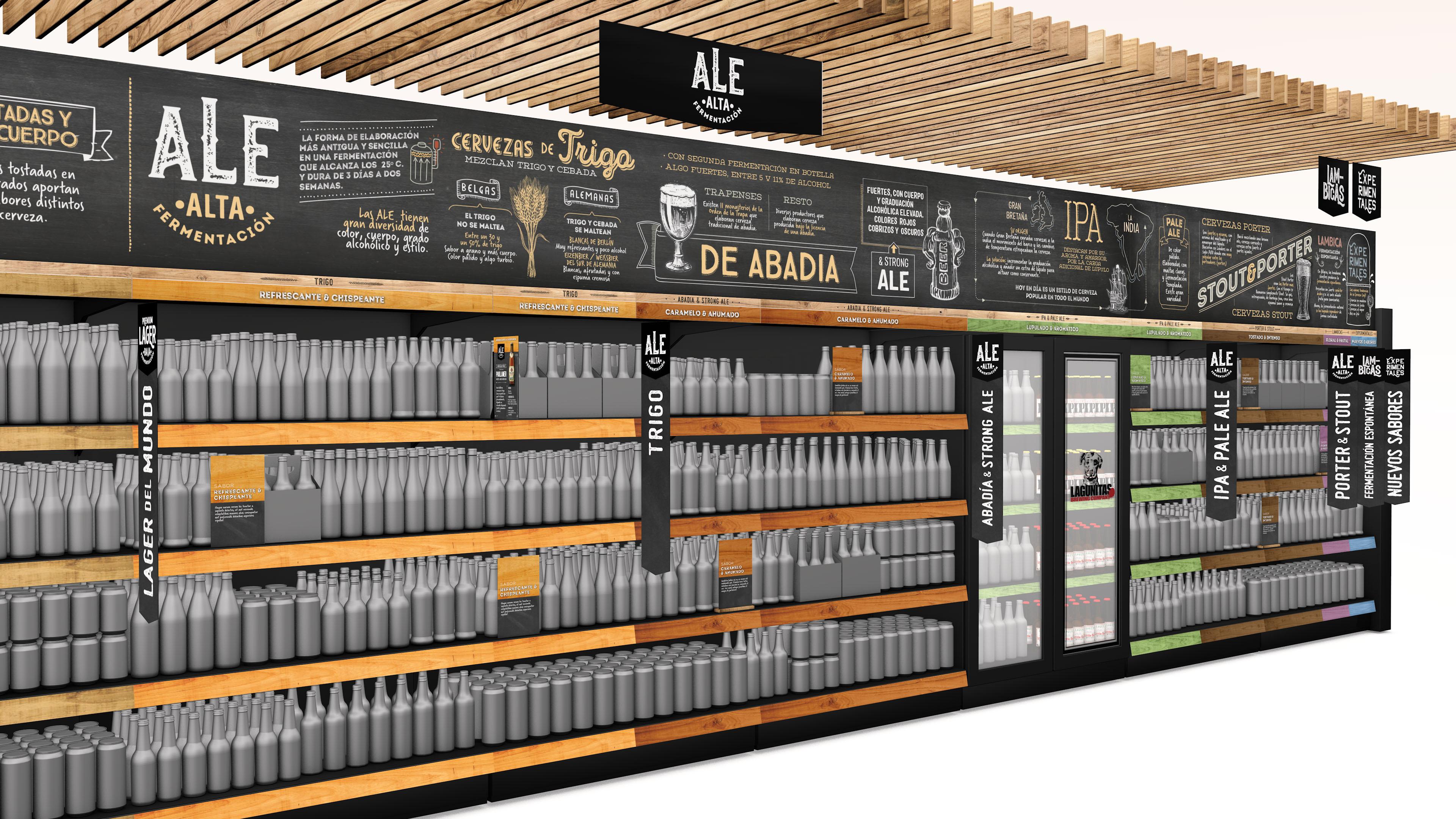 Beer Factory. Decoración de Lineal.