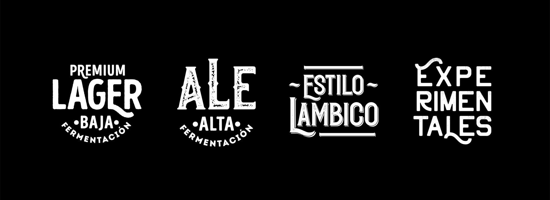 Beer Factory. Logos Identificadores.