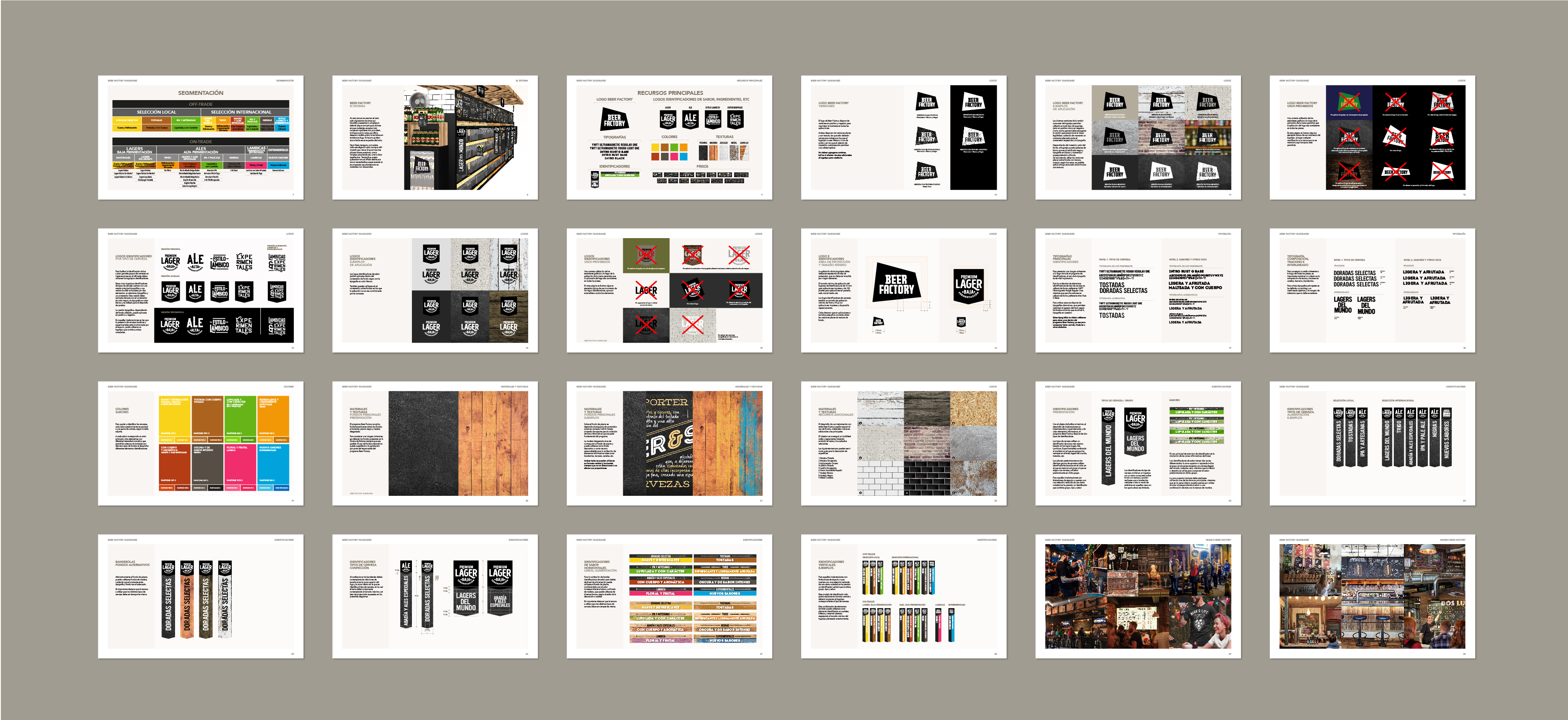 Beer Factory. Craft & Variety. Programa Visual.
