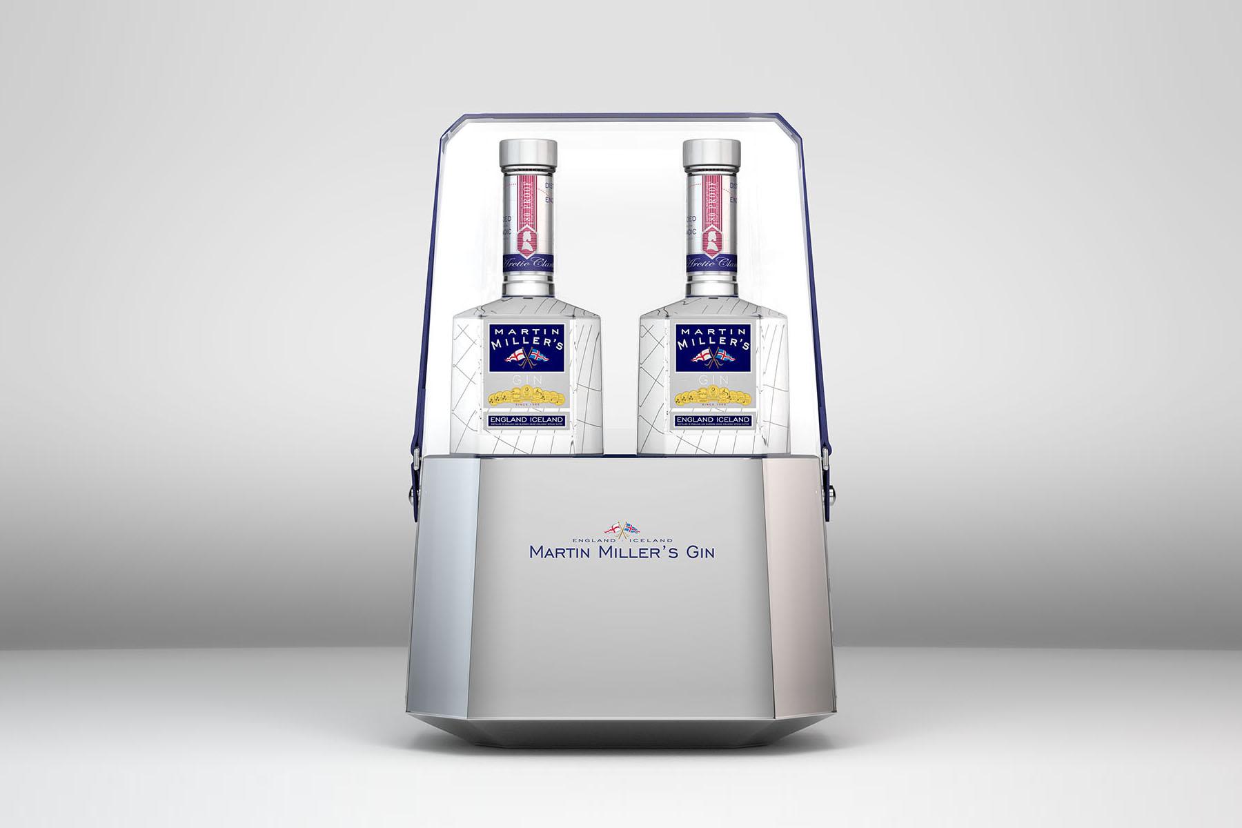 Martin Miller's Gin. On-Pack con Cubitera de diseño exclusivo.