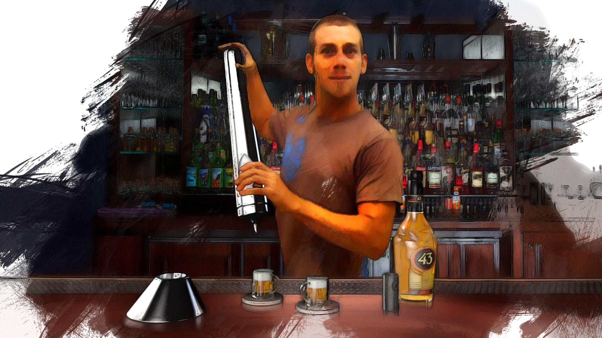 Mini-Beer Missile Cream Dispenser